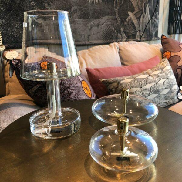 lampe a huile style salon en verre de Peridesign  inodore et magnifique
