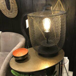 Lampe noir métal look moderne et industriel