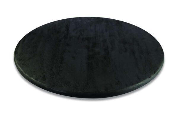 Plateau pivotant en manguier noir