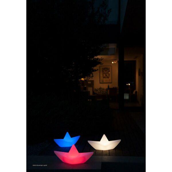 LAMPE EXTERIEUR PISCINE LUMINAIRE DIFFERENTES COULEURS FORME BATEAU ORIGAMI