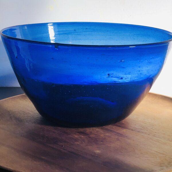 saladier bleu outremer du verre soufflé Egyptien ethnique chic