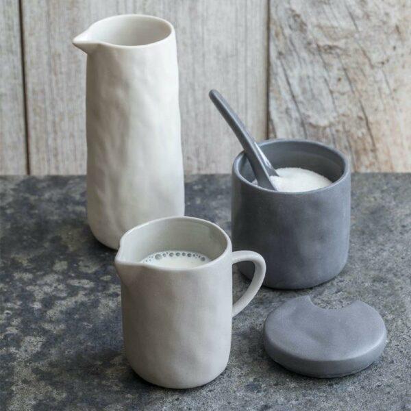 POt a condiment pot pour sucre pot à moutarde gris