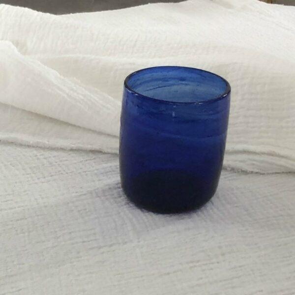 Gobelet verre à eau soufflé artisanat egyptien déco ethnique unique