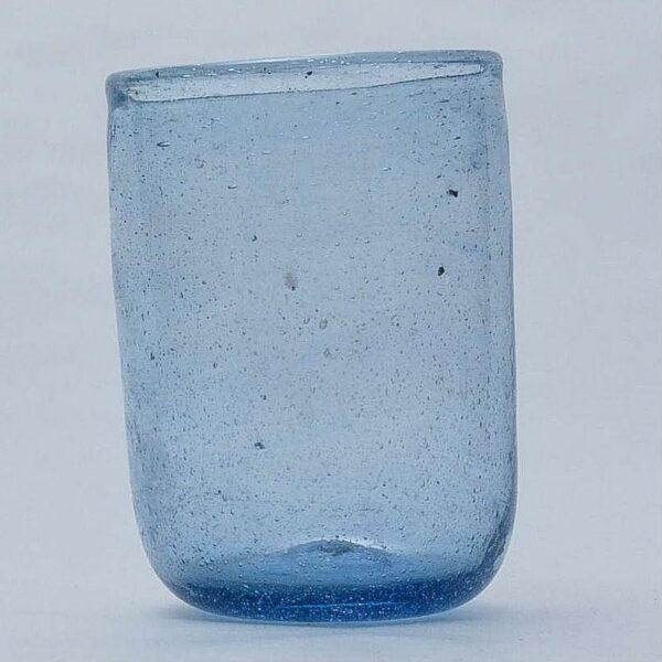 Gobelet en verre soufflé égyptien bleu style ethnique chic
