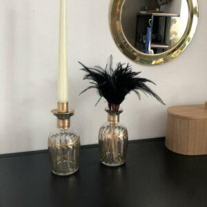 vase soliflore en verre et dorure chandelier en verre égyptien