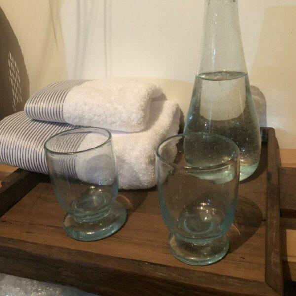verre soufflé artisanal égyptien décoration chic et bohème