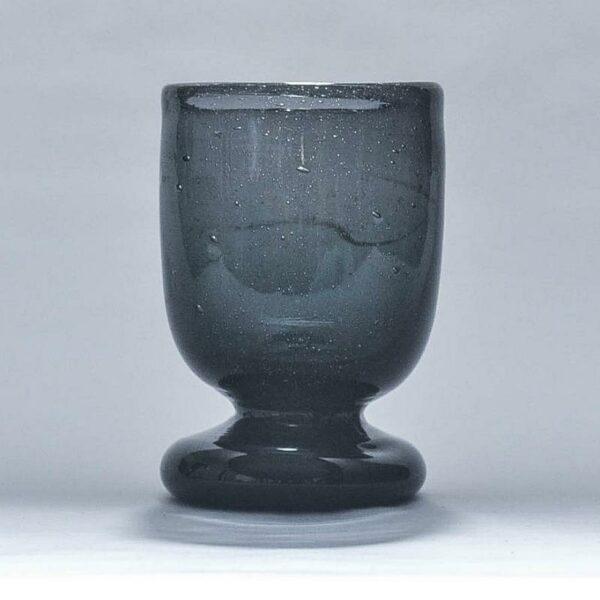 verre à vin à pied en verre soufflé egyptien