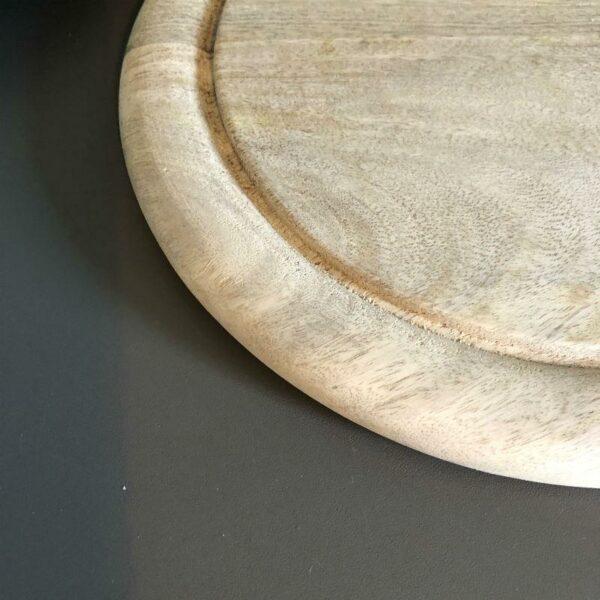 planche à tapas ronde en bois de HK living
