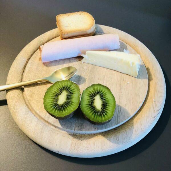 assiette ronde en bois de manguier de HKLIVING