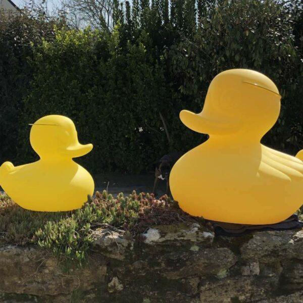 Lampe led Canard Duck Duck d'extérieur en jaune