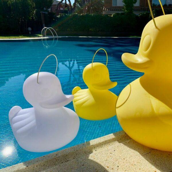 Lampe Canard Duck Duck flottant dans la piscine