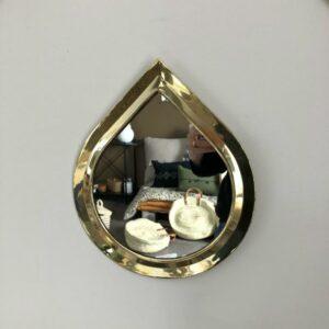 miroir doré forme goutte de chez choufmoi