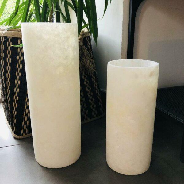 Photophores en pierre d'albâtre unique magnifique maisonmajuha