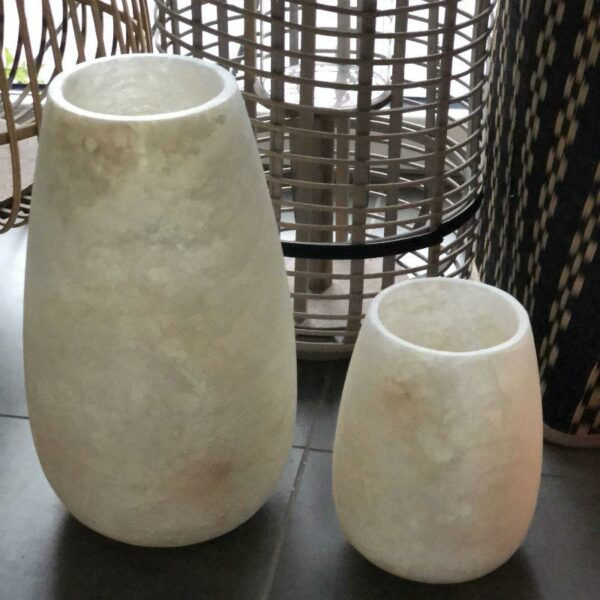 photophore d'albâtre forme ovale D'Egypte