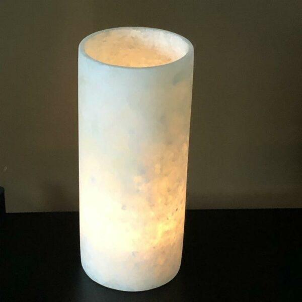 Photophore en albâtre cylindrique 30cm