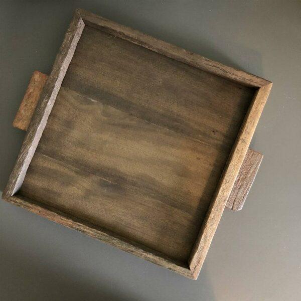 Plateau carré en bois recyclé