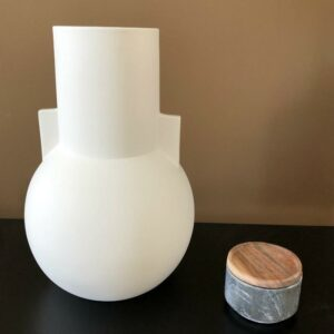 pot de fleurs blanc vase blanc mat boule