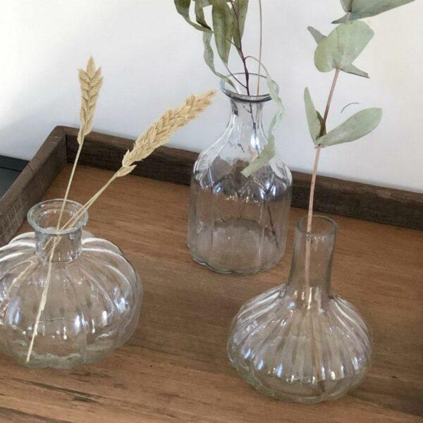 lot trois petits vases en verre Maison Majuha