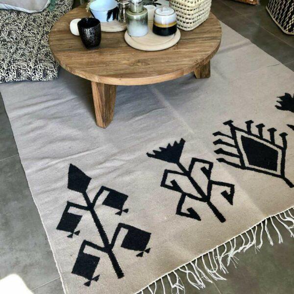 tapis en coton et laine kilim egyptien