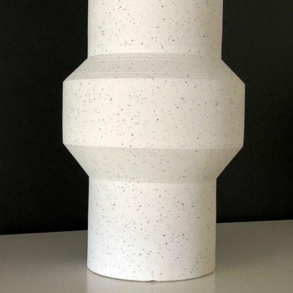 vase tacheté en argile blanc design et pure HK LIVING