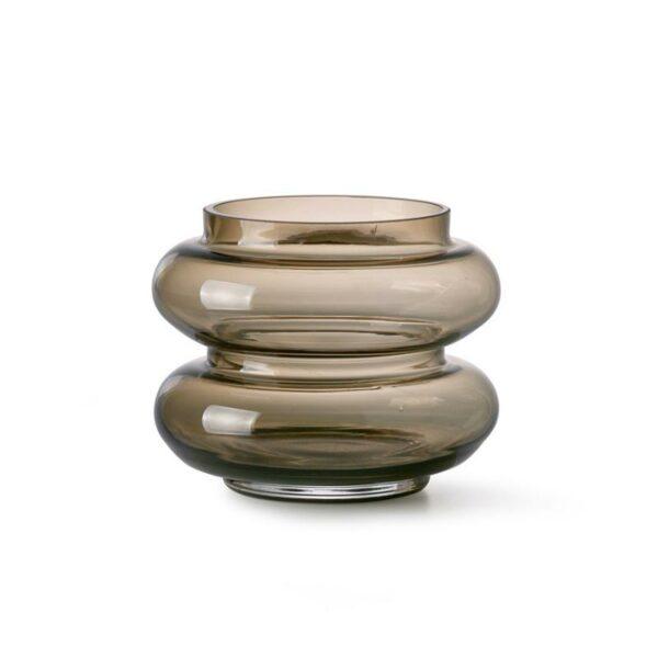 Vase teinté marron fumé petit et joli de HK Living