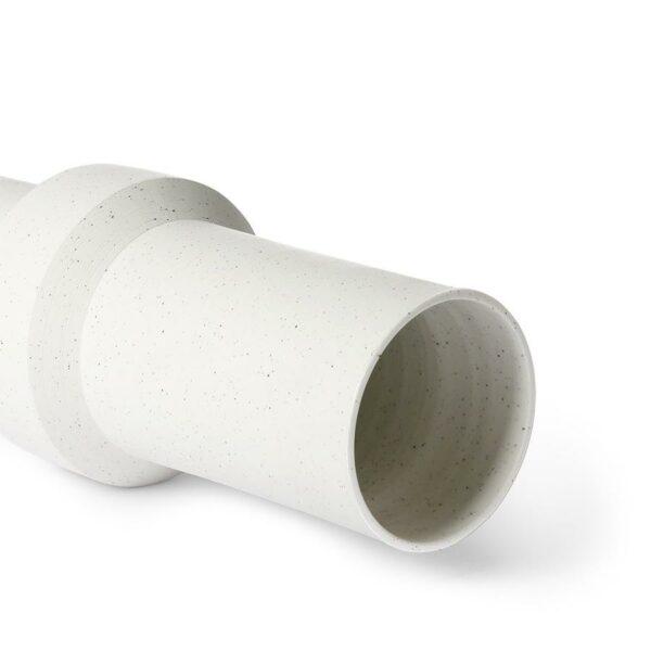 vase blanc moucheté de hkliving en argile taille médium