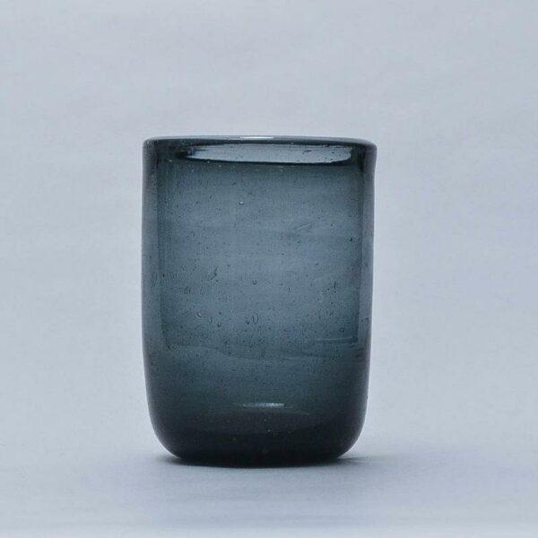 verre à eau soufflé Egyptien, à bulles, couleur gris, tendance bohème